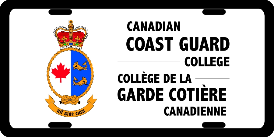 Canadian Coast Guard College License Plates