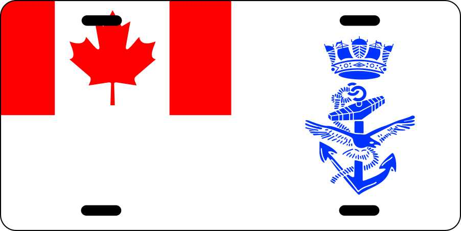 Canadian Naval Ensign License Plates