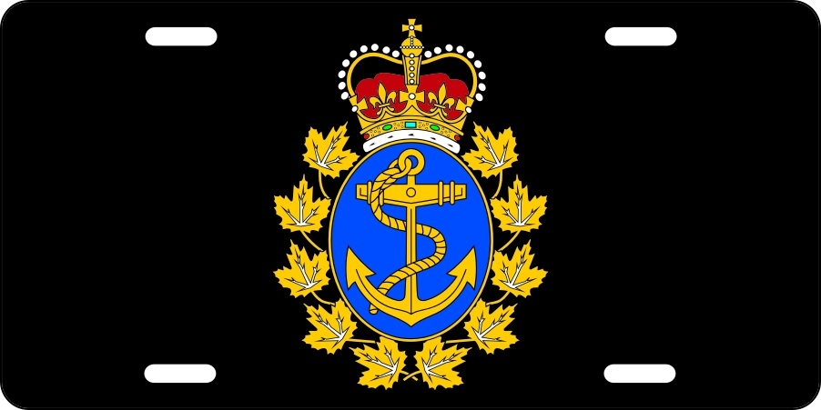 Canadian Navy (Black) License Plates