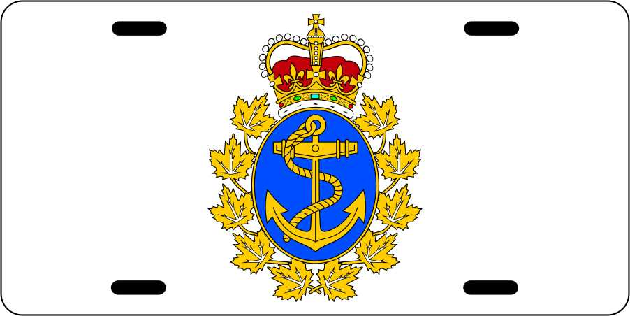 Canadian Navy License Plates