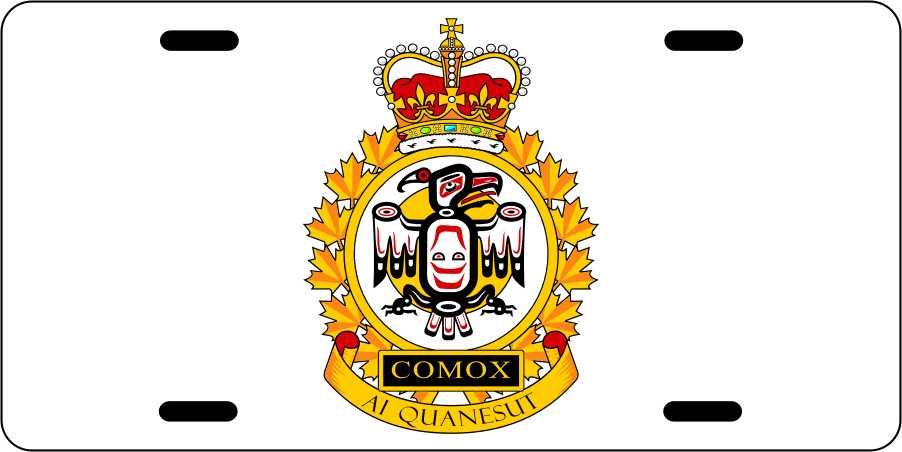 Canadian Forces Base Comox License Plates
