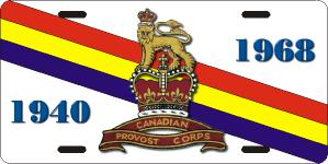Canadian Provost Corps License Plates