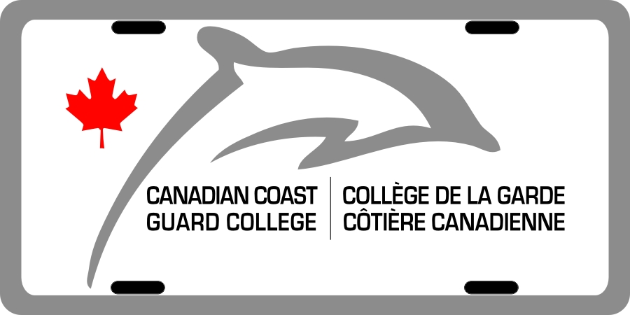 Canadian Coast Guard College (Dolphin 2) License Plates