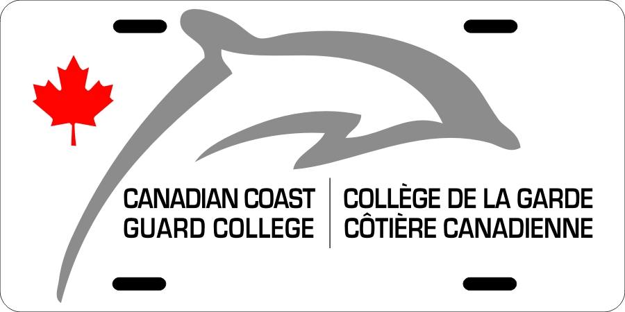 Canadian Coast Guard College (Dolphin) License Plates