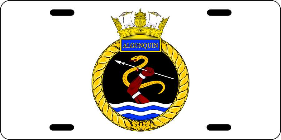 HMCS Algonquin License Plates