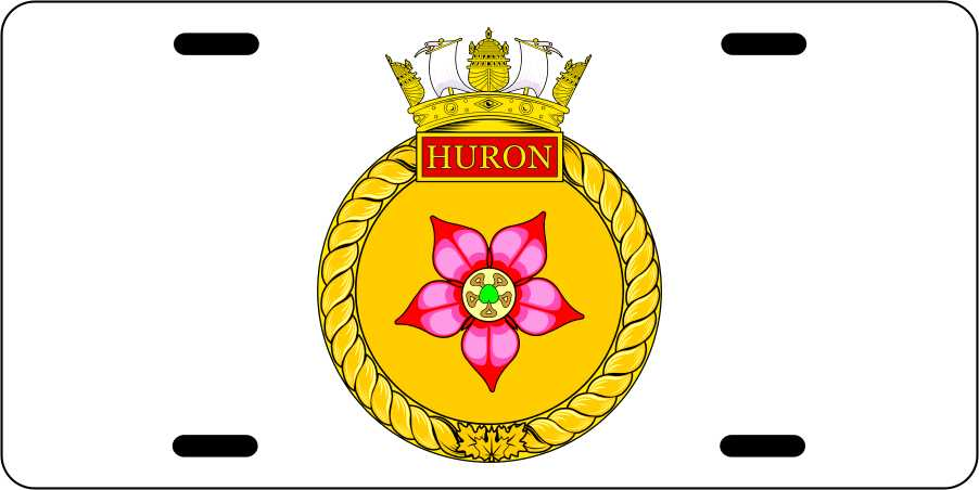 HMCS Huron License Plates