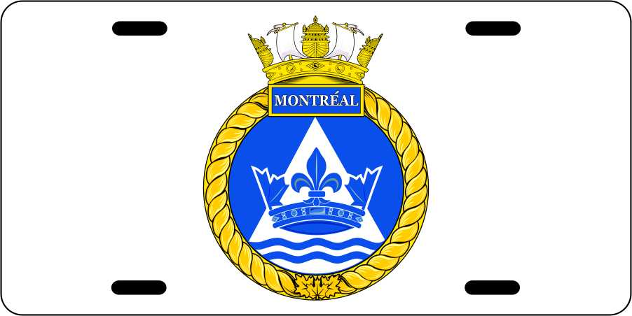 HMCS Montreal License Plates