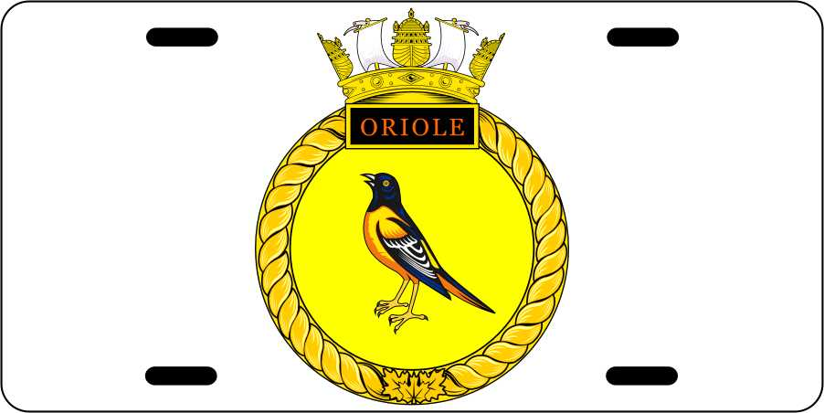 HMCS Oriole License Plates