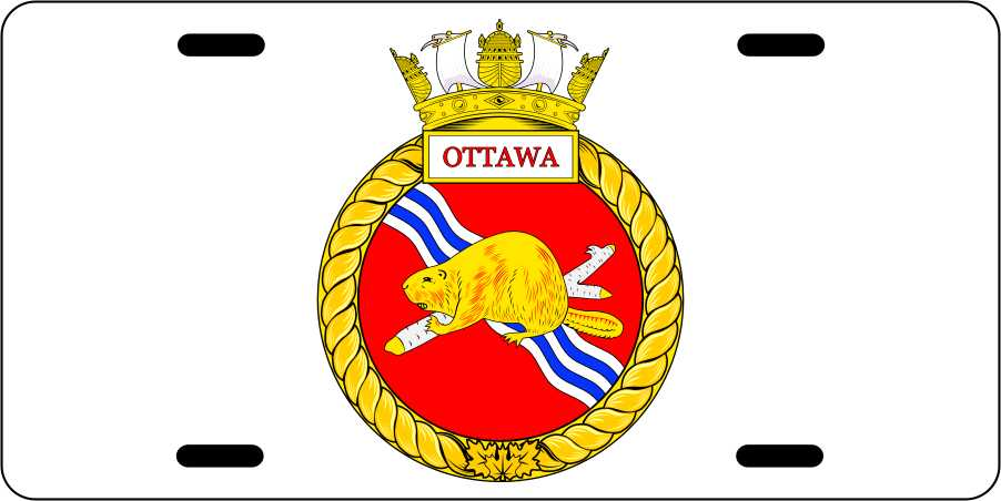 HMCS Ottawa License Plates