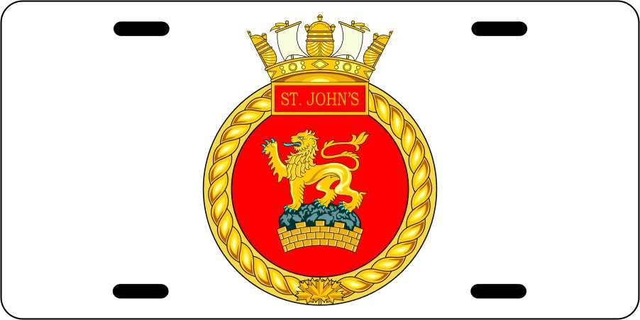 HMCS St Johns License Plates