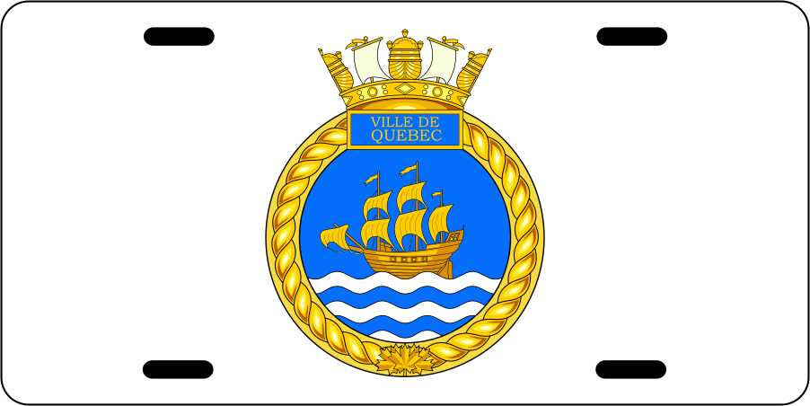 HMCS Ville de Quebec License Plates