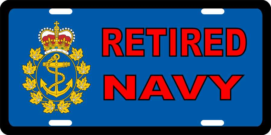 Navy Retired License Plates