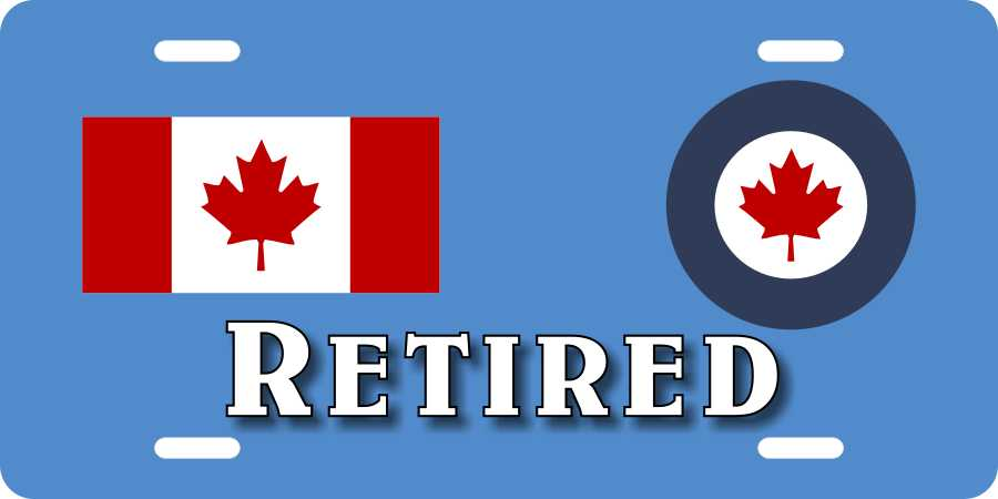 RCAF1 Retired License Plates