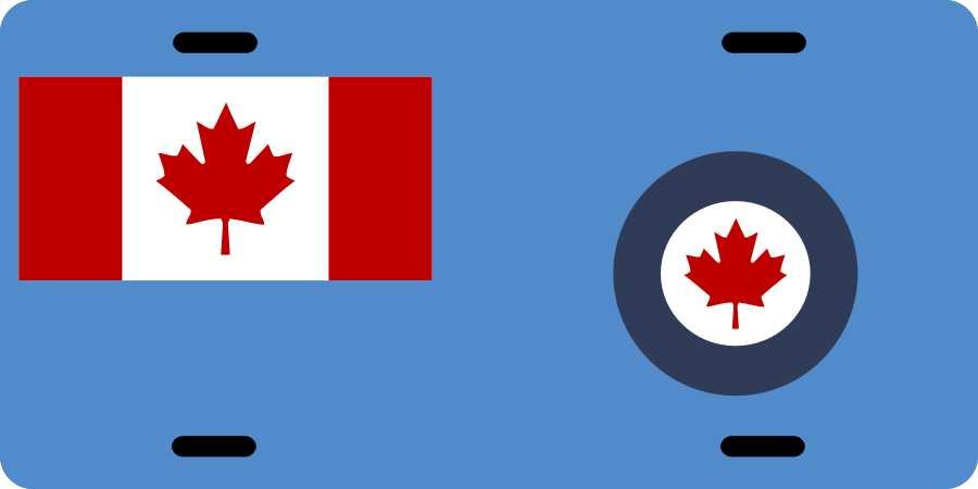 Royal Canadian Air Force 2 License Plates