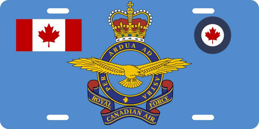Royal Canadian Air Force License Plates