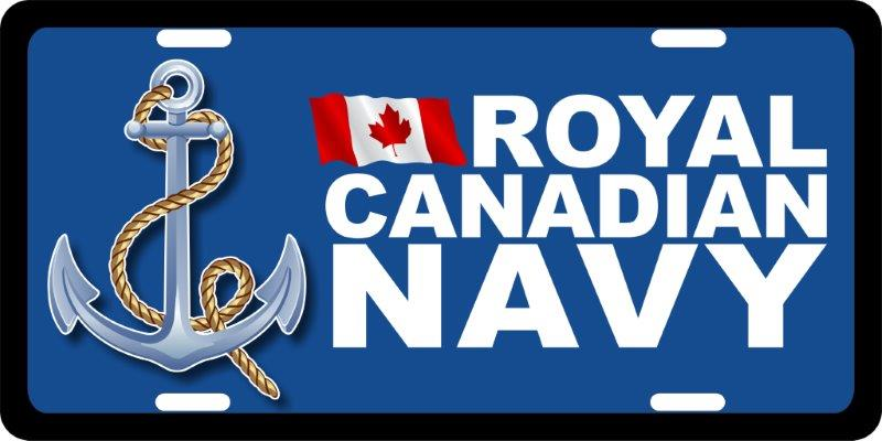 Royal Canadian Navy (2) License Plates