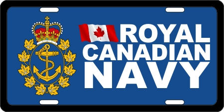 Royal Canadian Navy (3) License Plates