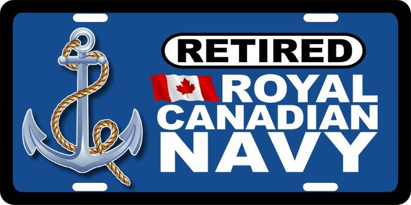 Royal Canadian Navy Retired (2) License Plates