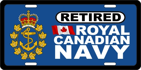 Royal Canadian Navy Retired (3) License Plates