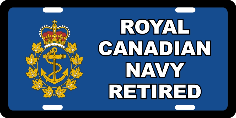 RC Navy Retired License Plates