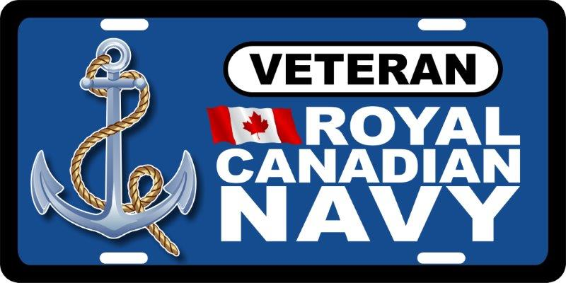 Royal Canadian Navy Veteran (2) License Plates