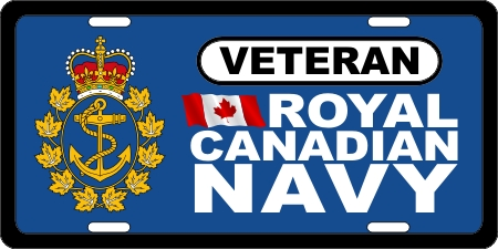 Royal Canadian Navy Veteran (3) License Plates