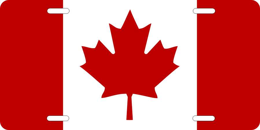 World Flags Canada License Plates