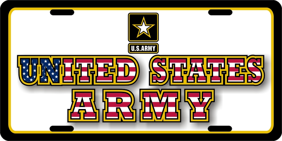 US Army License Plates
