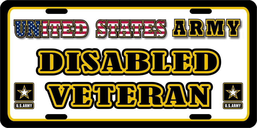 US Army Disabled Veteran License Plates