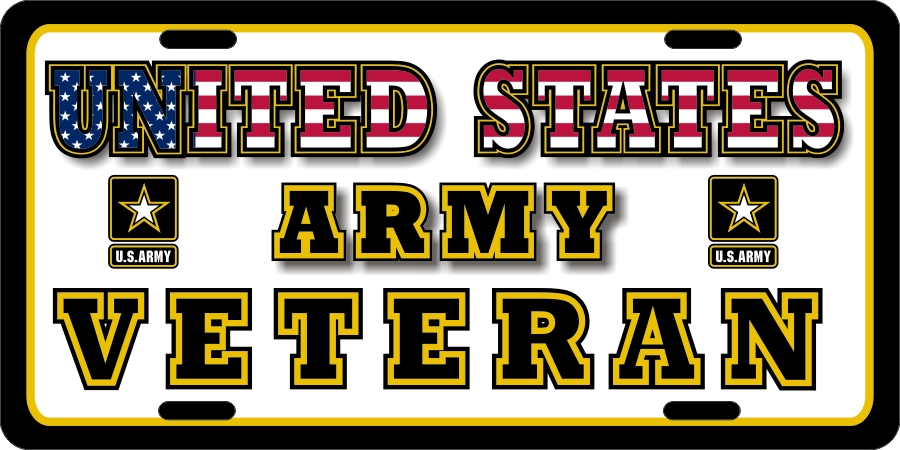US Army Veteran License Plates