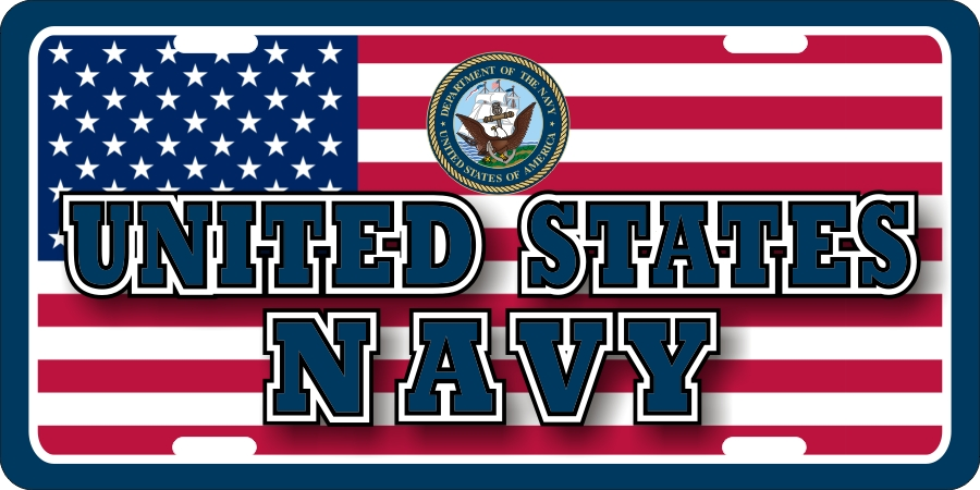 US Navy License Plates