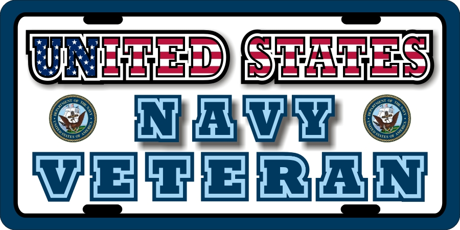 US Navy Veteran License Plates