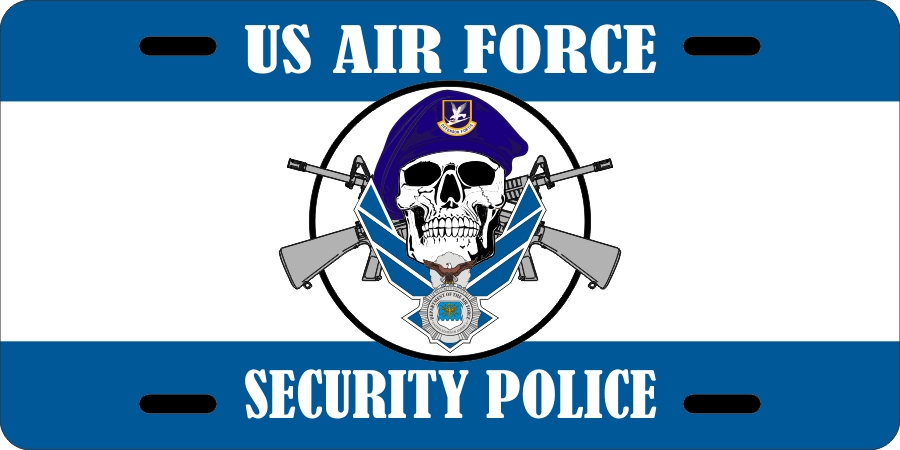 USAF Security Police License Plates