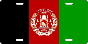 World Flags Afghanistan License Plates