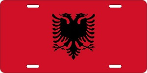 World Flags Albania License Plates
