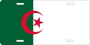 World Flags Algeria License Plates