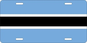 Botswana License Plates