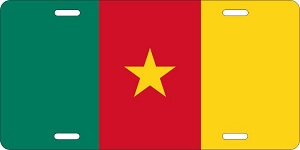 World Flags Cameroon License Plates