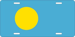 World Flags Palau License Plates