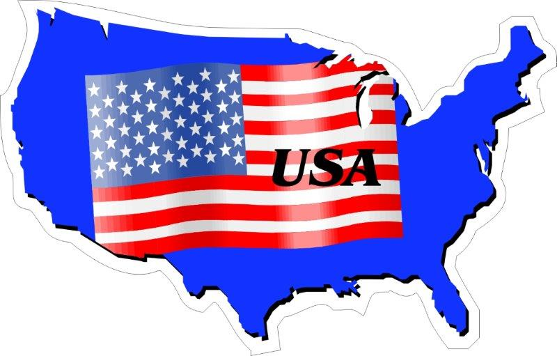 US state mapflag decals/stickers/bumper stickers/labels. Click for pricing & designs