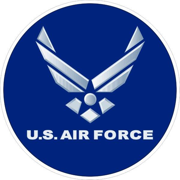US air force decals/stickers/bumper stickers/labels. Click for pricing & designs