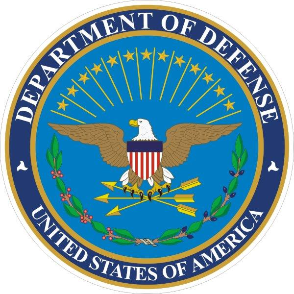 US Department of Defense decals/stickers/bumper stickers/labels. Click for pricing & designs
